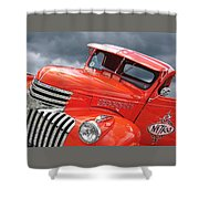 Freshly Squeezed - 1945 Orange Chevy  Shower Curtain