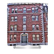 Freshman Dormitory-harvard University V2 Shower Curtain