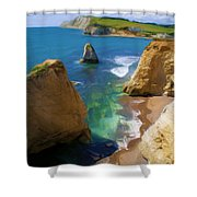 Freshwater Bay Shower Curtain