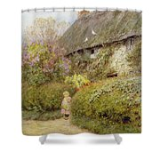 Freshwater Cottage Wc On Paper Shower Curtain