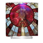 Fresnel Guiding Light Shower Curtain