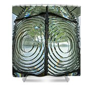 Fresnel Lens At Cape Blanco Lighthouse - Oregon Coast Shower Curtain
