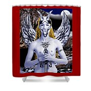 Freya Viking Warrior Shower Curtain