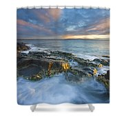 Freycinet Cloud Explosion Shower Curtain by Mike  Dawson