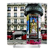 Frida In Paris Shower Curtain