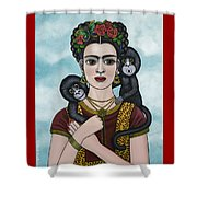 Frida In The Sky Shower Curtain
