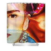 Frida Kahlo Art - Seeing Color Shower Curtain