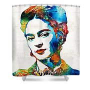 Frida Kahlo Art - Viva La Frida - By Sharon Cummings Shower Curtain