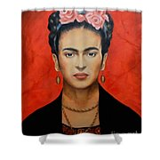 Frida Kahlo Shower Curtain by Elena Day