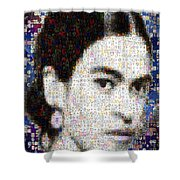 Frida Kahlo Mosaic Shower Curtain