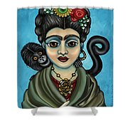 Frida's Monkey Shower Curtain