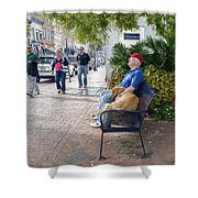 Friend And Companion - Watercolor Effect Shower Curtain