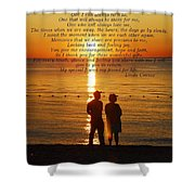 Friend For Life Poem Shower Curtain