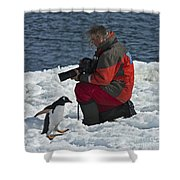 Friend Of The Penguins... Shower Curtain