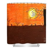 Friendly Sunset Shower Curtain
