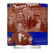 Friendly Tavern Polka Shower Curtain