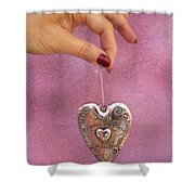 Friends Are Close At Heart Shower Curtain