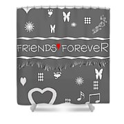 Friends Forever Valentine Shower Curtain