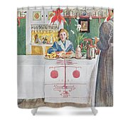 Friends From The Town - Dining Room Shower Curtain