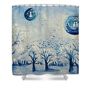 Friendships Gaze Shower Curtain