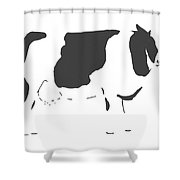 Friesian Cow Shower Curtain
