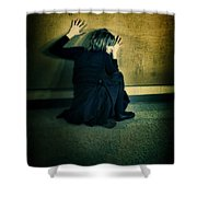 Frightened Woman Shower Curtain by Jill Battaglia