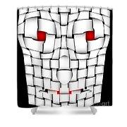 Frightening Mask Shower Curtain