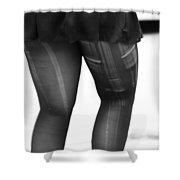 Frisky Lunch  Shower Curtain