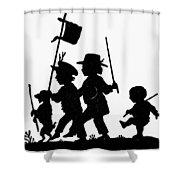 Fr�lich Playing Children Shower Curtain