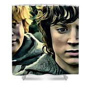 Frodo And Samwise Shower Curtain