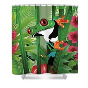 Frog 02 Shower Curtain