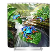 Frog Capades Shower Curtain