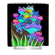 Frog Family Too Shower Curtain