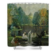 Frog Pond In Boston Public Gardens Shower Curtain