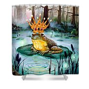 Frog Prince Shower Curtain by Heather Calderon
