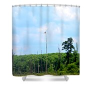 From A Dragonfly's Point Of View Shower Curtain