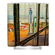From Cape Henry Lighthouse Shower Curtain