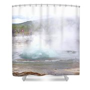 There Is Always Water Boiling Deep Inside The Ground  Shower Curtain