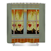 From French Riviera Window With Love Shower Curtain