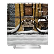 From My Fire Escape - Arches In The Snow Shower Curtain