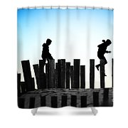 From Pole To Pole Shower Curtain