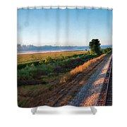 Train Through Illinois Shower Curtain