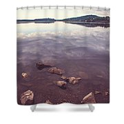 From The Depth Of Silence. Ladoga Lake  Shower Curtain