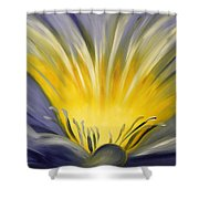 From The Heart Of A Flower Blue Shower Curtain