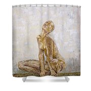 From The Inside Shower Curtain by Draia Coralia