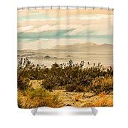 From Top Of The Mountain At Joshua Tree National Park Shower Curtain