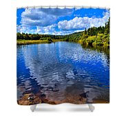 From Under The Green Bridge Shower Curtain by David Patterson