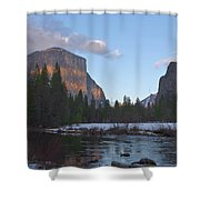 From Valley View At Sunset Shower Curtain