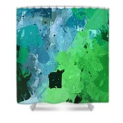 From Winter Blues To Spring Greens Shower Curtain by Heidi Smith