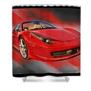 Front 2012 458 Spider  Shower Curtain